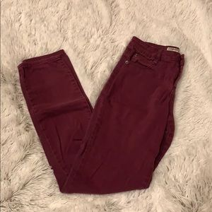 Plum/burgundy skinny jeans